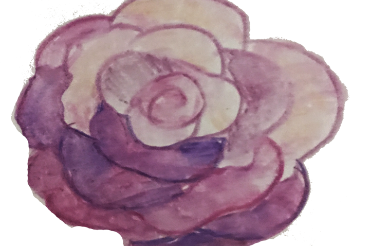 Free handmade watercolor rose clipart