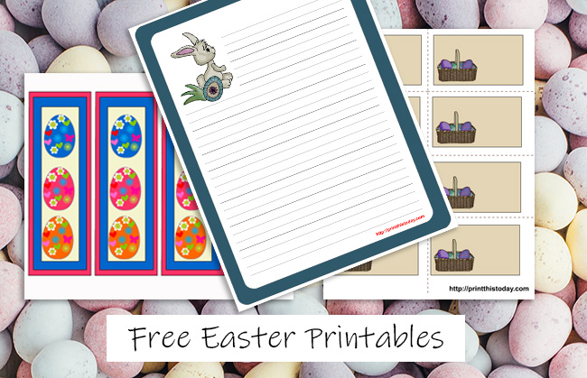 Free Easter Printables, Stationery, Cards, Tags, Labels and More