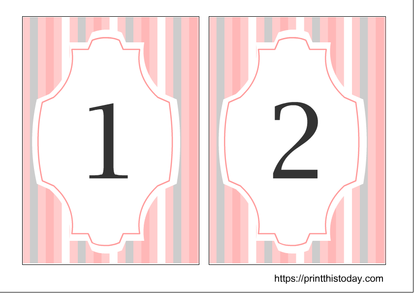 This is a graphic of Printable Wedding Table Numbers with regard to template