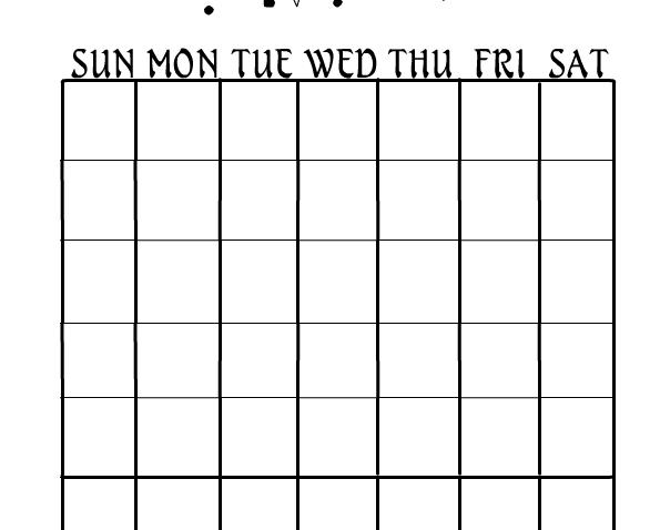 Free Printable Tarot Calendar
