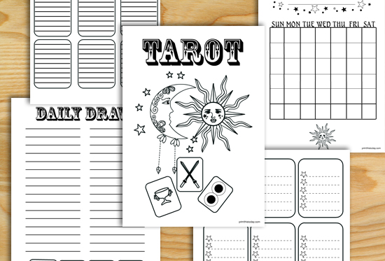 Free Printable Tarot Journal Pages