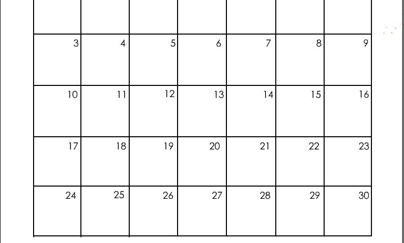 April 2022 Calendar Page