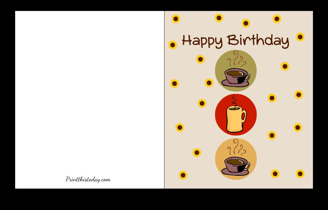 Fall themed Happy Birthday Card Printable