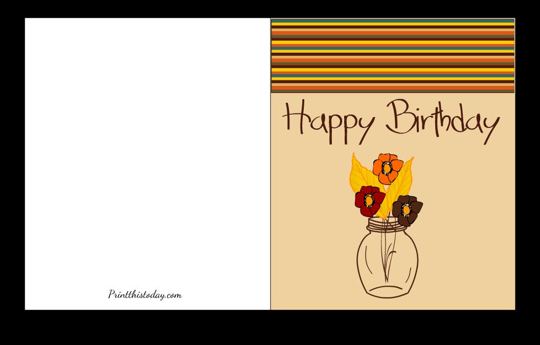 Floral Fall Birthday Card Printable