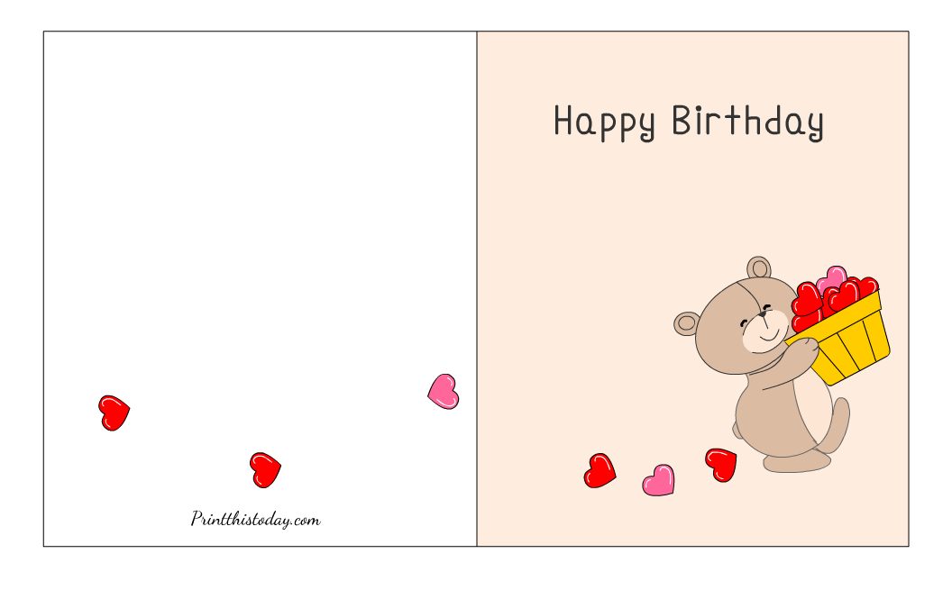 Free Printable Cute Birthday Card
