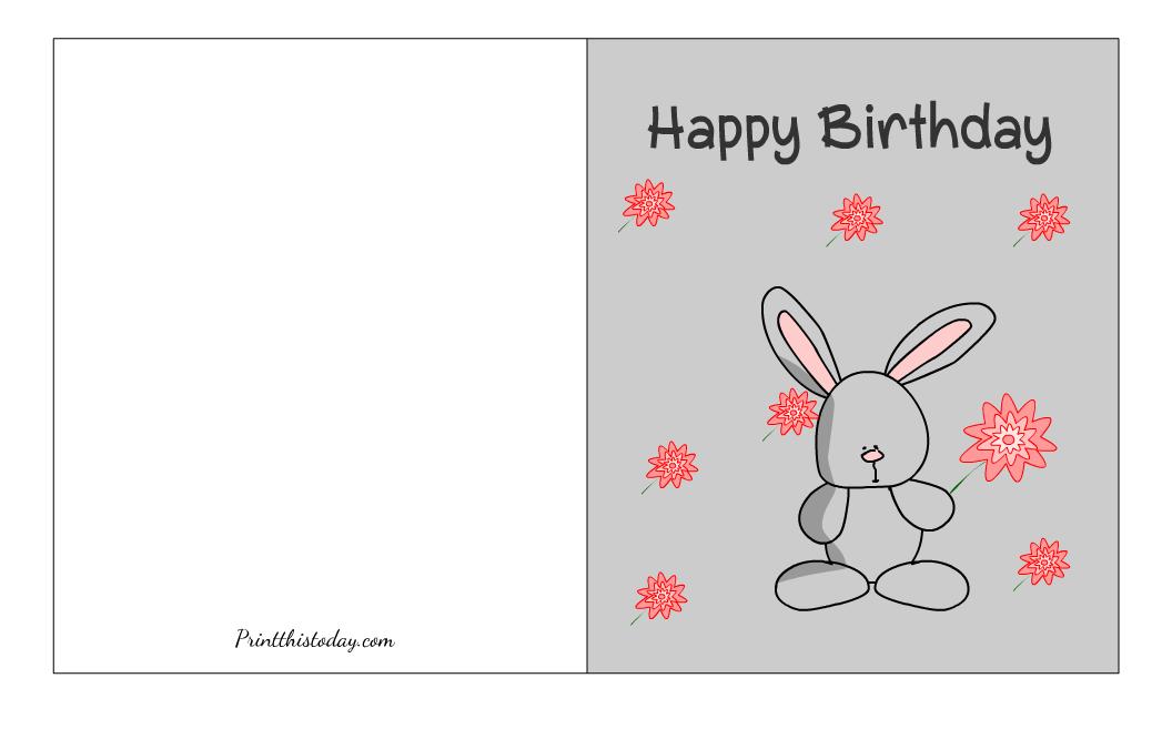 Cute Birthday Card Printable