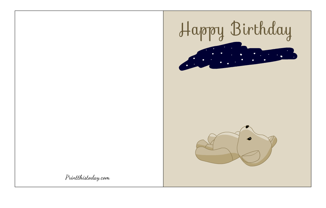 Stargazing Birthday Card Printable