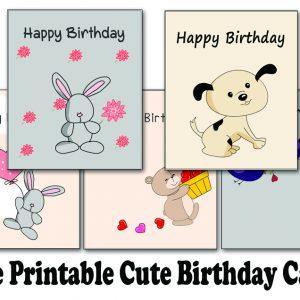 Free Printable Cute Birthday Cards