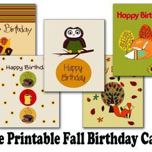 Free Printable Fall Birthday Cards