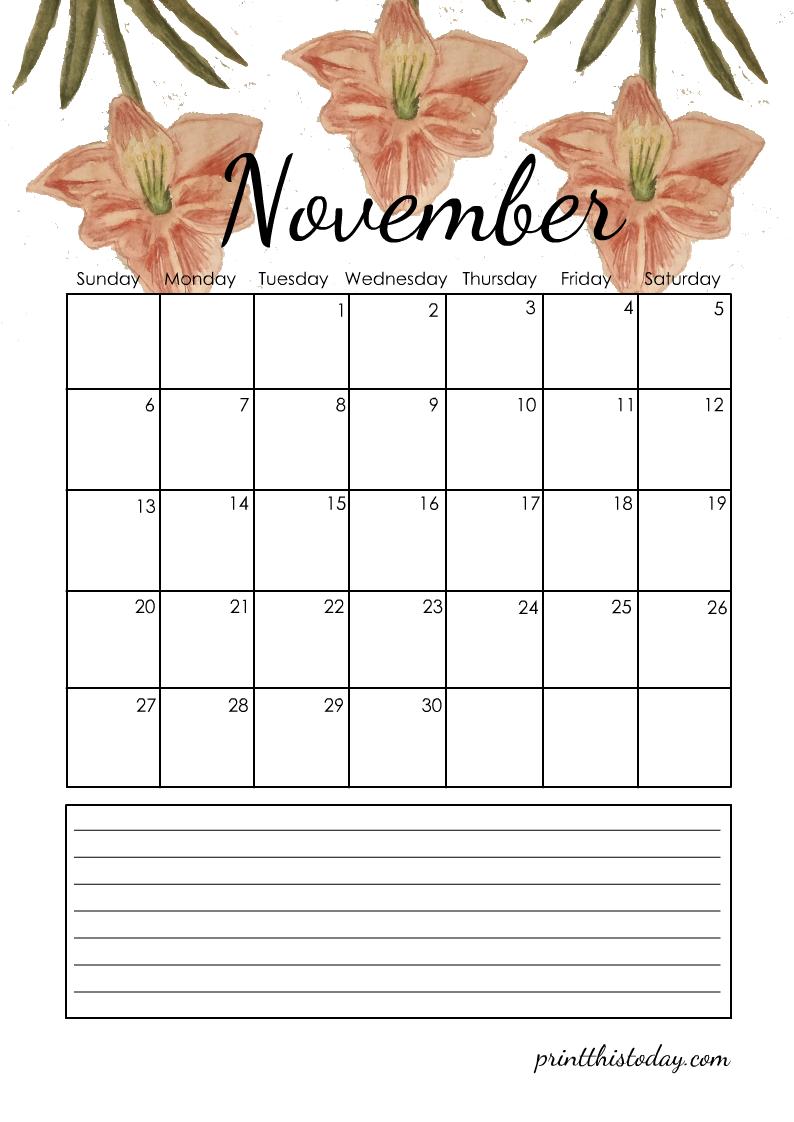 November 2022 Planner Calendar