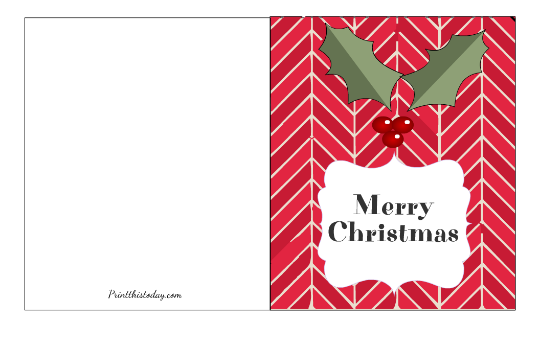 Free Printable Cute Merry Christmas Card