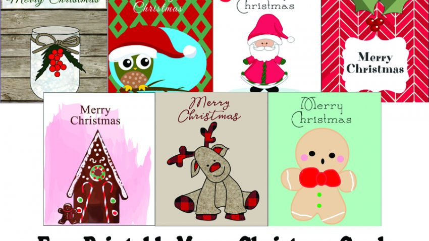 Free Printable Cute Merry Christmas Cards